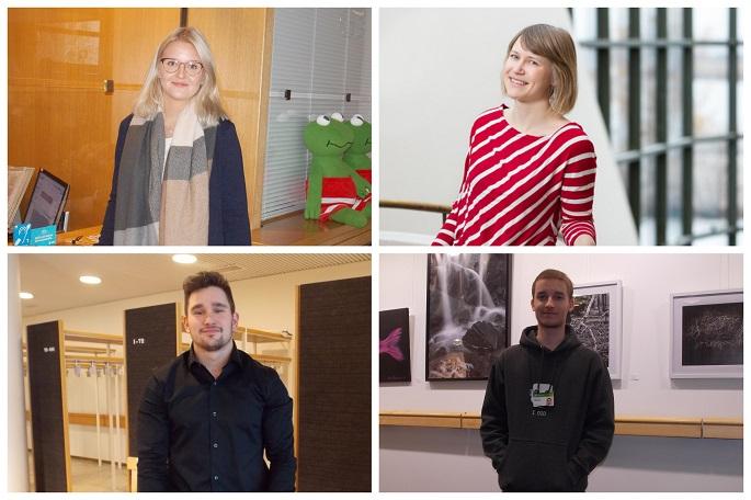Photo Captions: Ella Hyttinen, Jenni Sjöman, Mika Alatalo and Valtteri Koski.