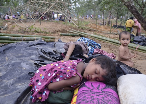 Rohingya refugees who were forced to leave their country by Myanmar security forces arrived in Bangladesh to save their lives. Photo Mostafizur Rahman.