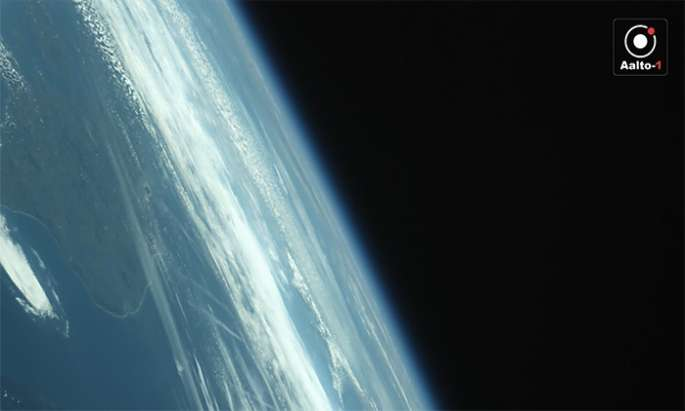 Aalto-1 sends its first photo from space