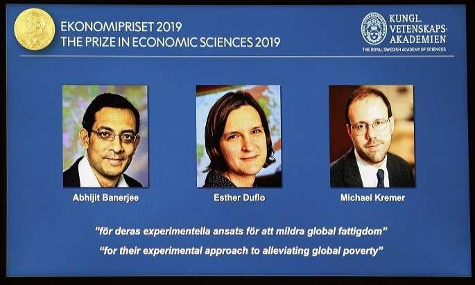 3 get Nobel economics award for work on global poverty